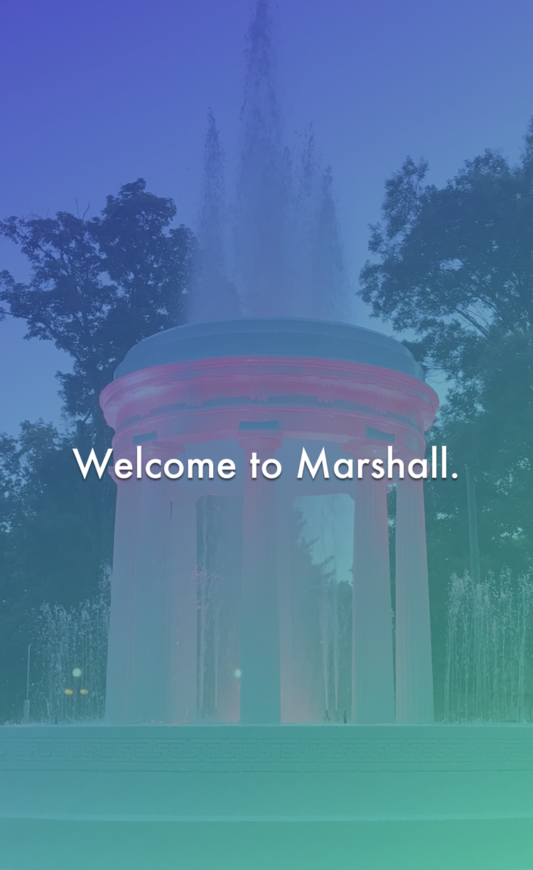 Historic Marshall App Welcome Screen